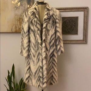Jackets & Blazers - Vintage two-tone mink fur Canadian fur coat